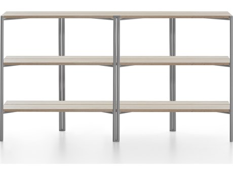 Emeco Outdoor Run By Sam Hecht And Kim Colin Aluminum Clear Anodized Shelf in Ash PatioLiving