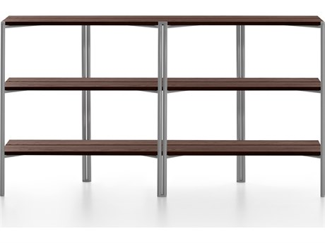 Emeco Outdoor Run By Sam Hecht And Kim Colin Aluminum Clear Anodized Shelf in Walnut PatioLiving
