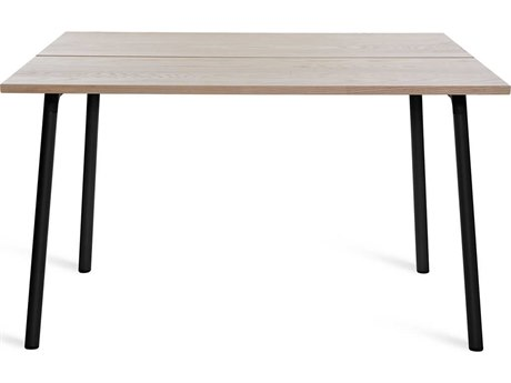 Emeco Outdoor Run By Sam Hecht And Kim Colin Aluminum Black 48'' Wide Square Dining Table in Ash Top PatioLiving