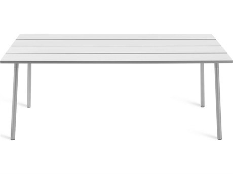 Emeco Outdoor Run By Sam Hecht And Kim Colin Aluminum Clear Anodized 72''W x 32''D Rectangular Dining Table PatioLiving