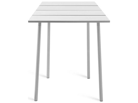 Emeco Outdoor Run By Sam Hecht And Kim Colin Aluminum Clear Anodized 32'' Wide Square Bar Table PatioLiving
