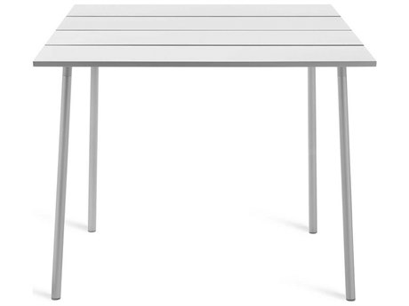 Emeco Outdoor Run By Sam Hecht And Kim Colin Aluminum Clear Anodized 48''W x 42''D Rectangular Bar Table PatioLiving
