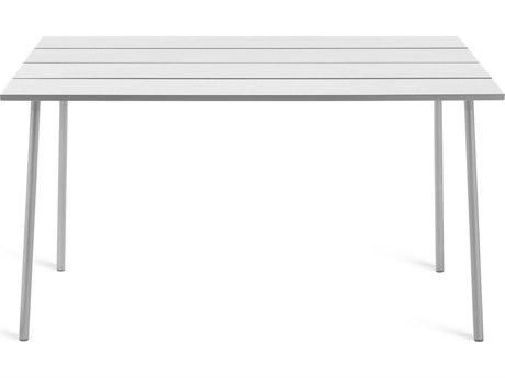 Emeco Outdoor Run By Sam Hecht And Kim Colin Aluminum Clear Anodized 72''W x 32''D Rectangular Bar Height Table PatioLiving