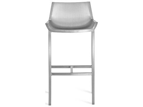 Emeco Outdoor Sezz By Christophe Pillet Brushed Aluminum Bar Stool PatioLiving