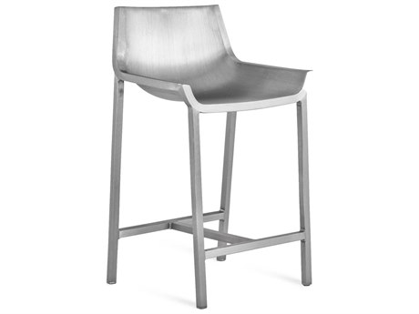 Emeco Outdoor Sezz By Christophe Pillet Brushed Aluminum Counter Stool PatioLiving