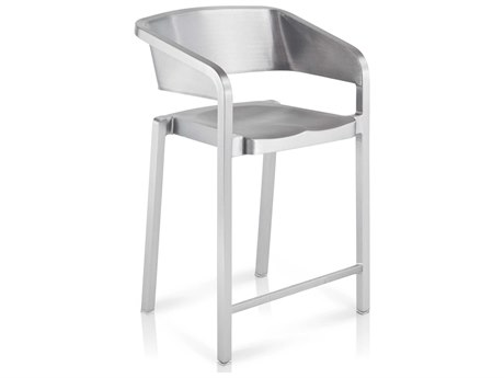 Emeco Outdoor Soso By Jean Nouvel Brushed Aluminum Counter Stool PatioLiving