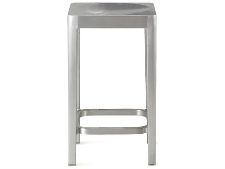 Emeco Outdoor Emeco Brushed Aluminum 24'' High Counter Stool PatioLiving