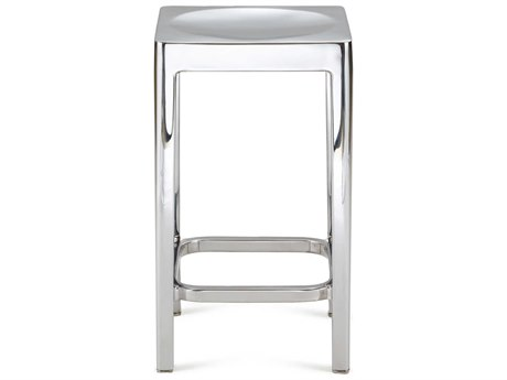 Emeco Outdoor Emeco Polished Aluminum 24'' High Counter Stool PatioLiving