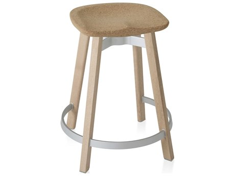 Emeco Outdoor Su By Nendo Wood Counter Stool with Cork Seat PatioLiving