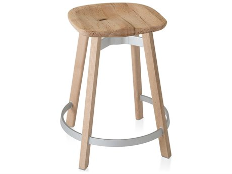 Emeco Outdoor Su By Nendo Wood Counter Stool with Oak Seat PatioLiving