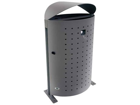 EMU Dara Steel Textured Grey Litter Bin with Ashtray & Snuffer PatioLiving