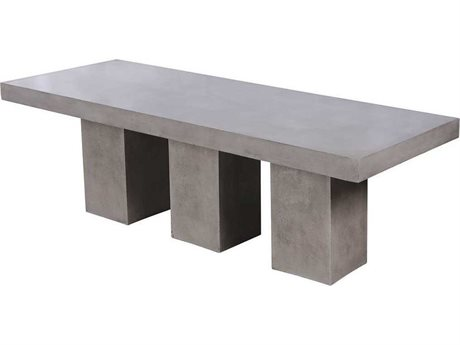 Elk Outdoor Kingston Polished Concrete 94'' Wide Rectangular Dining Table PatioLiving