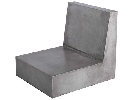 Elk Outdoor Lannister Polished Concrete Lounge Chair (Sold in 2) PatioLiving