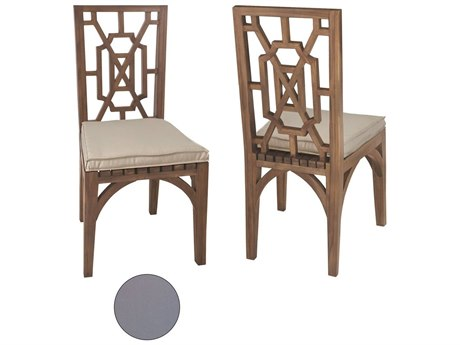 Elk Outdoor Teak Gray Chair Seat Replacement Cushions (Set of 2)