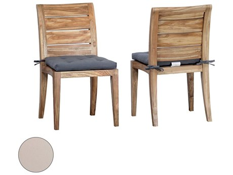 Elk Outdoor Teak Cream Chair Seat Replacement Cushions (Set of 2)
