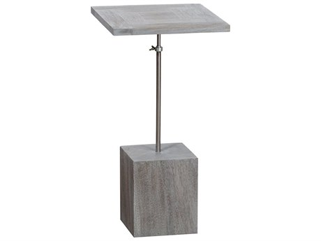 Elk Outdoor Justin Henna / Silver 11'' Wide Steel Square End Table