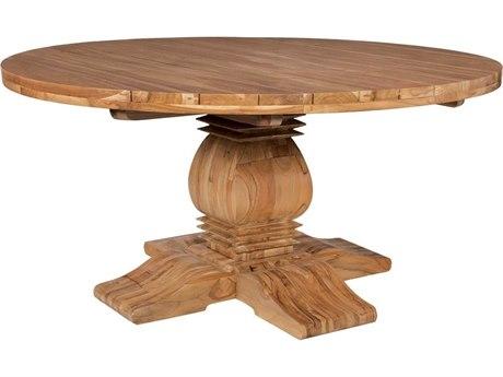 Elk Outdoor Euro Teak Oil 62'' Wide Round Dining Table