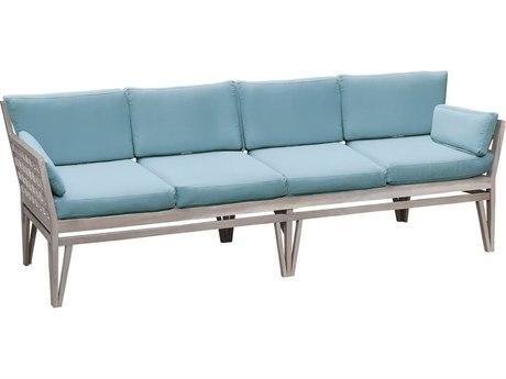 Elk Outdoor Teak Henna / Sea Green Fabric Cushion Sofa