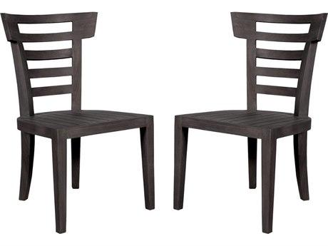 Elk Outdoor Antique Smoke Teak Dining Chairs (Set of 2)