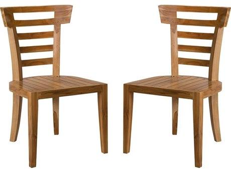 Elk Outdoor Euro Teak Oil Dining Chair (Set of 2)