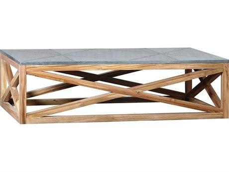 Elk Outdoor Nantucket Euro Teak Oil 64'' Wide Rectangular Coffee Table PatioLiving