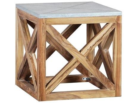 Elk Outdoor Nantucket Euro Teak Oil 22'' Wide Square End Table PatioLiving