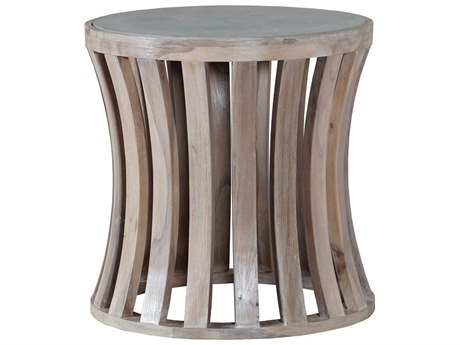 Elk Outdoor Bridgestone Latte / Wax 20'' Wide Teak Round End Table