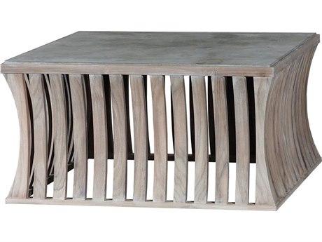 Elk Outdoor Bridgestone Latte / Wax 35'' Wide Teak Square Coffee Table PatioLiving