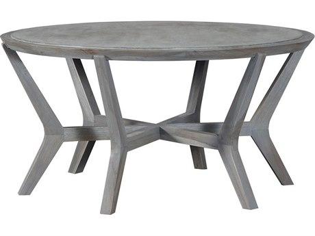 Elk Outdoor Brazos Henna / Wax 46'' Wide Teak Oval Coffee Table PatioLiving