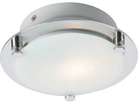 ET2 Piccolo Satin Nickel & Polished Chrome Semi-Flush Mount Light