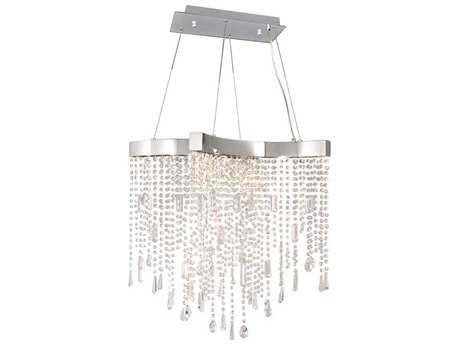 ET2 Crystal Sensation Polished Chrome Ten-Light 28.5'' Long LED Island Light