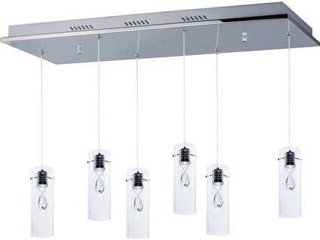 ET2 Solitaire Polished Chrome Six-Light Island Light