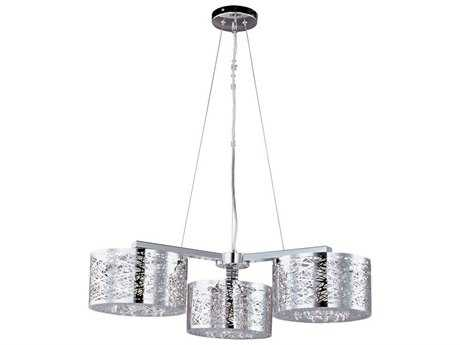 ET2 Inca Polished Chrome Three-Light 27.5'' Wide Xenon Pendant Light (Bulb Not Included)