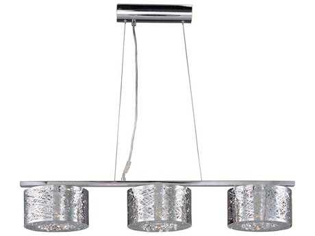 ET2 Inca Polished Chrome Three-Light 37'' Long Xenon Island Light (Bulb Not Included)