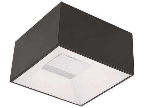 ET2 Collage Black & White Glass 9'' Long LED Flush Mount Light
