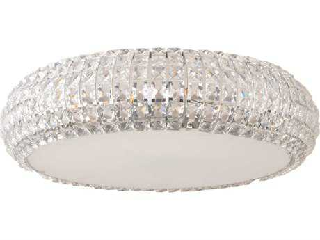 ET2 Bijou Polished Chrome Nine-Light 21'' Wide Flush Mount Light
