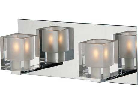 ET2 Blocs Polished Chrome Two-Light Wall Sconce