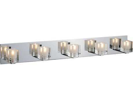 ET2 Blocs Polished Chrome Five-Light Vanity Light