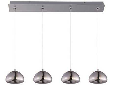 ET2 Vive Polished Chrome Four-Light Island Light