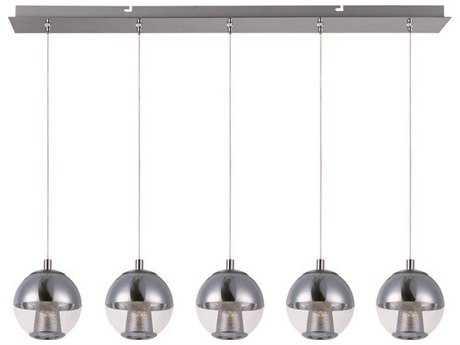 ET2 Reflex Polished Chrome Five-Light Island Light