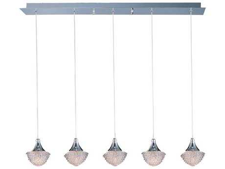 ET2 Blossom Polished Chrome Five-Light 33.5'' Long Island Light