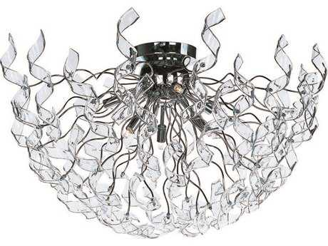 ET2 Zest Polished Chrome Six-Light Semi-Flush Mount Light