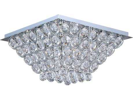 ET2 Brilliant Polished Chrome 16-Light 19.5'' Wide Flush Mount Light