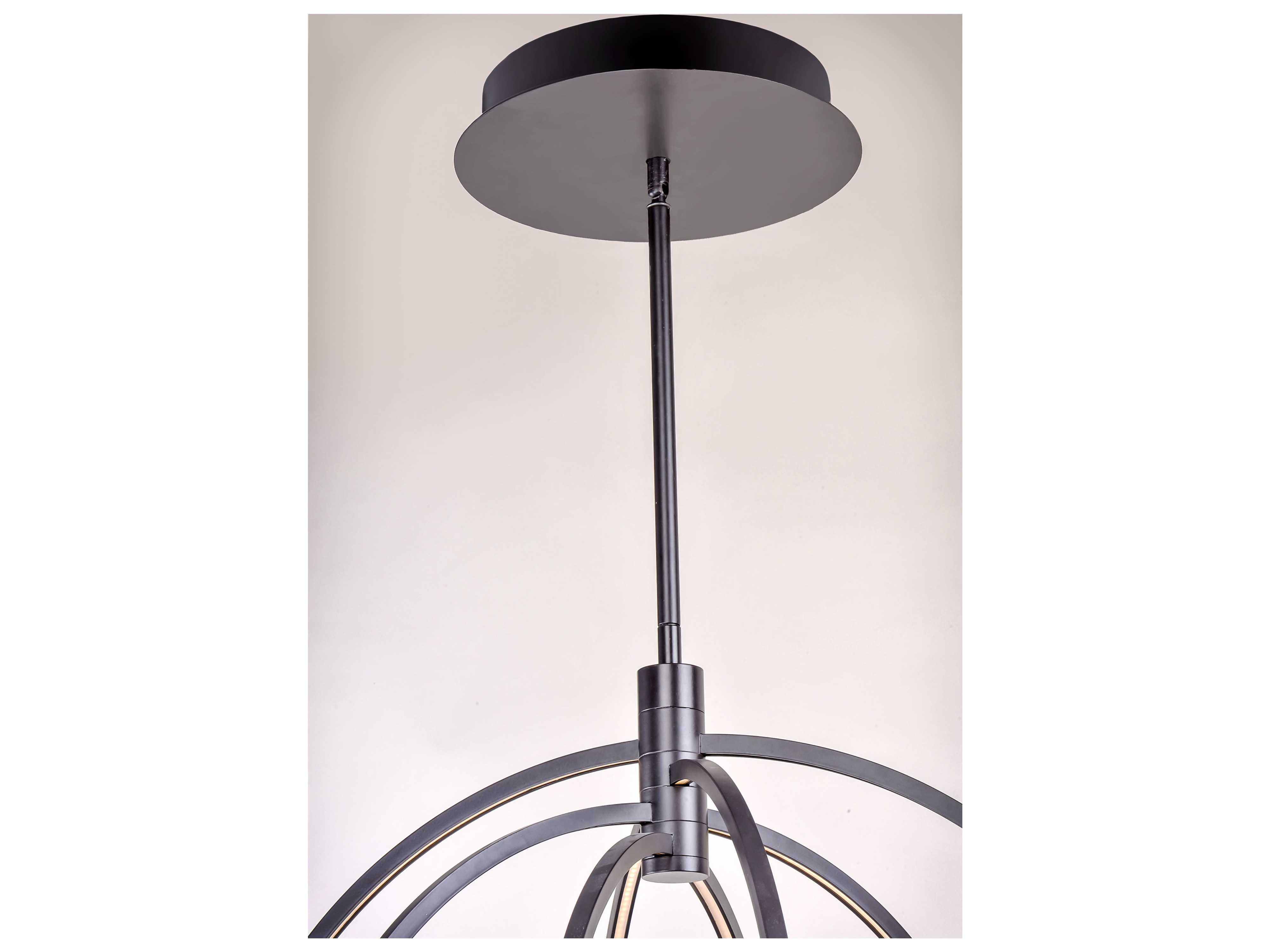 Et2 Lighting Concentric Bronze 27 Wide Led Pendant Light