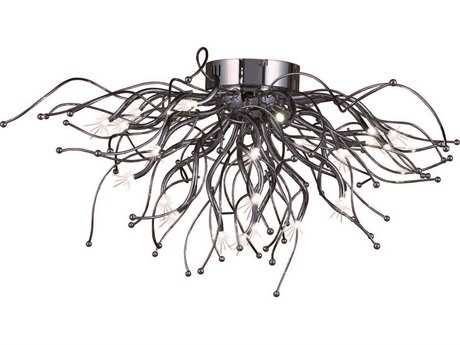 ET2 Orion Polished Chrome 28-Light Flush Mount Light