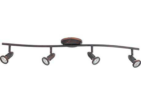 ET2 Agron Bronze Four-Light 34'' Wide Track Light