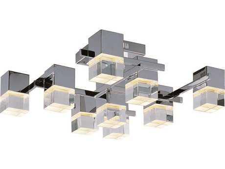 ET2 Nova LED Polished Chrome Nine-Light Semi-Flush Mount Light