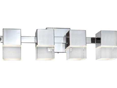 ET2 Nova LED Polished Chrome Four-Light Wall Sconce