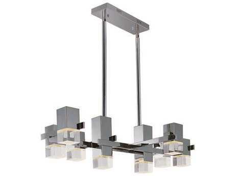ET2 Nova LED Polished Chrome Eight-Light Pendant