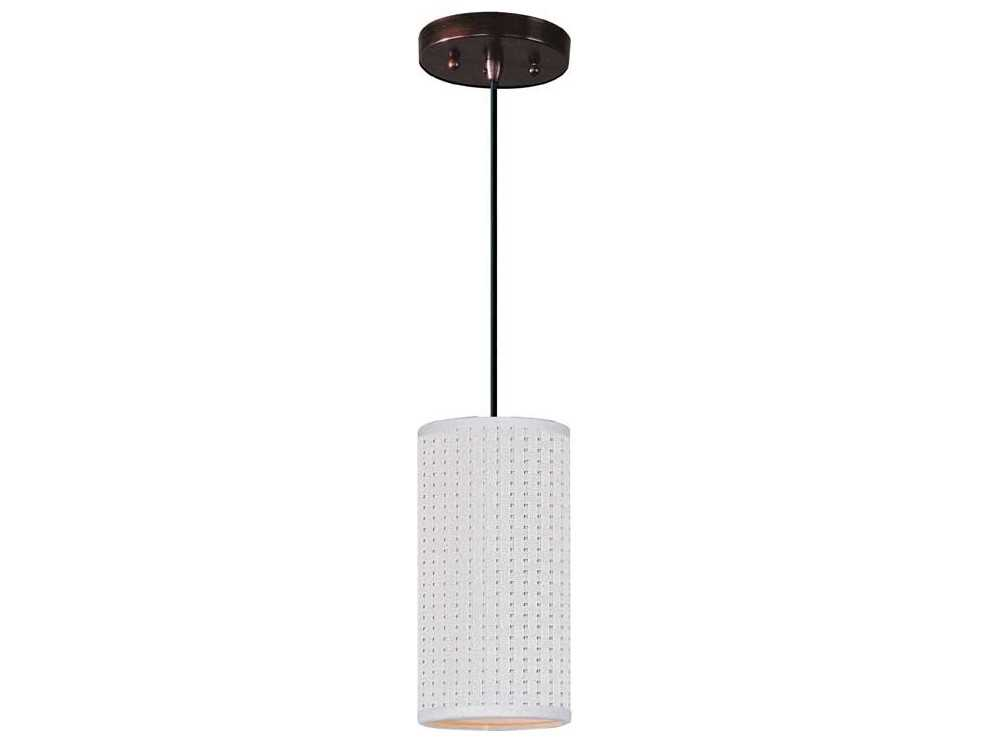 et2 elements oil rubbed bronze white weave 5 39 39 wide fluorescent mini pendant light with cord. Black Bedroom Furniture Sets. Home Design Ideas